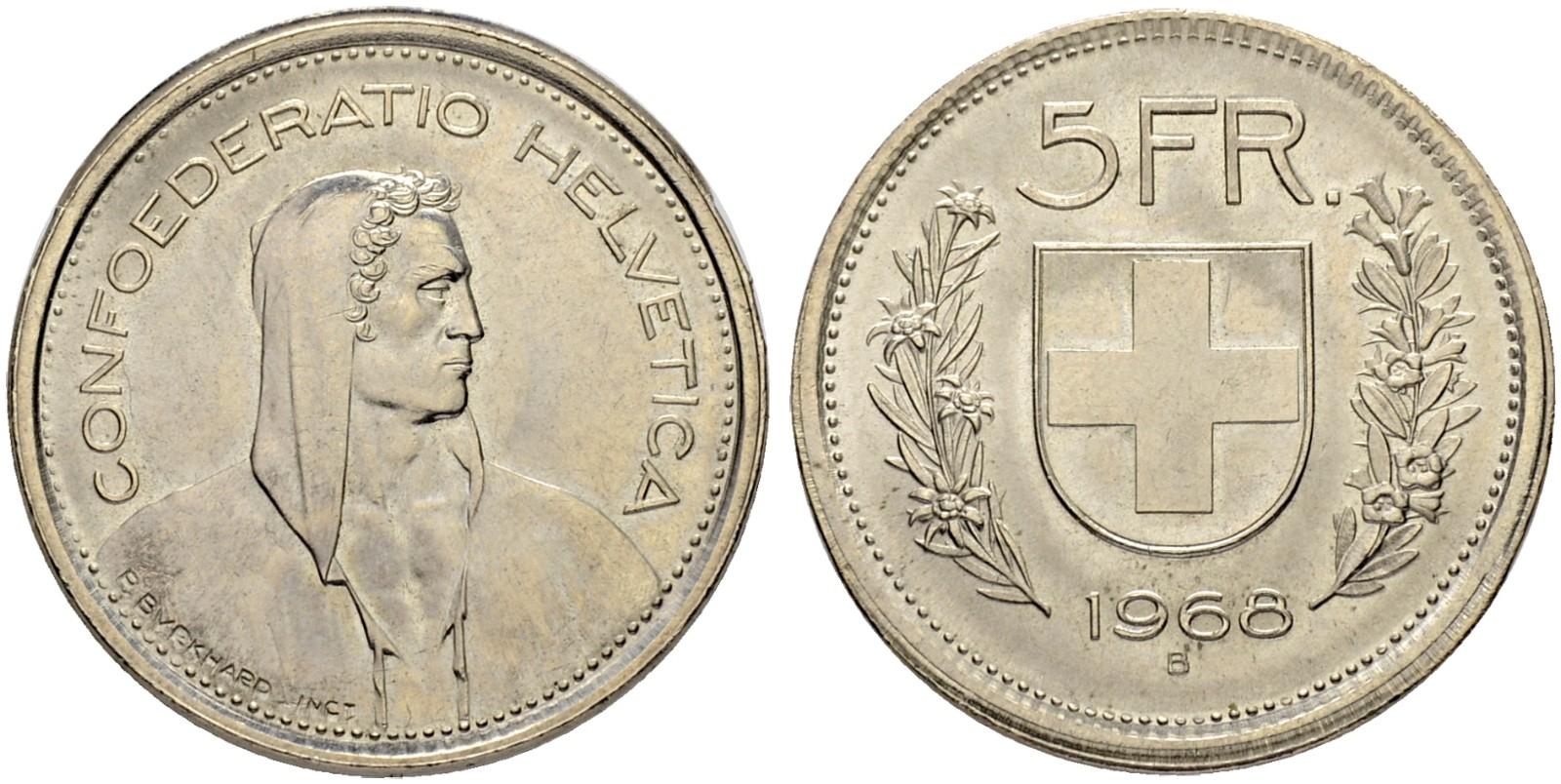 CH 5 Franken 1968 B