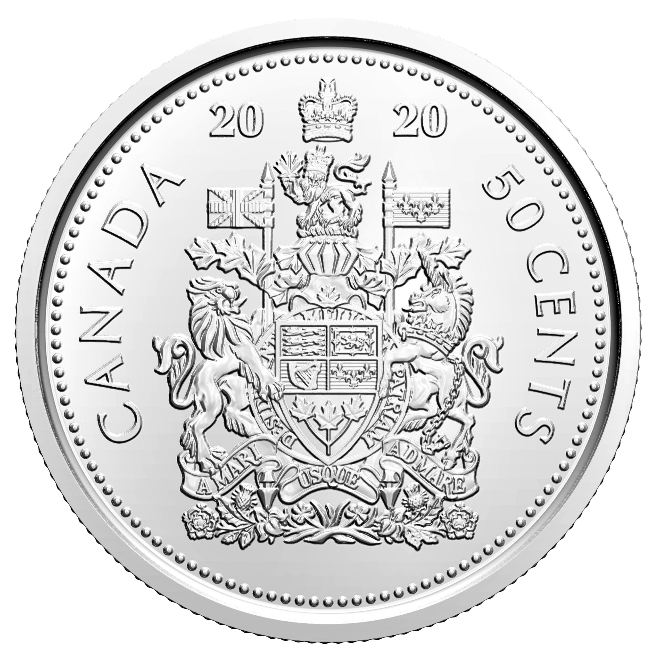 CA 50 Cents 2020 Logo of the Royal Canadian Mint