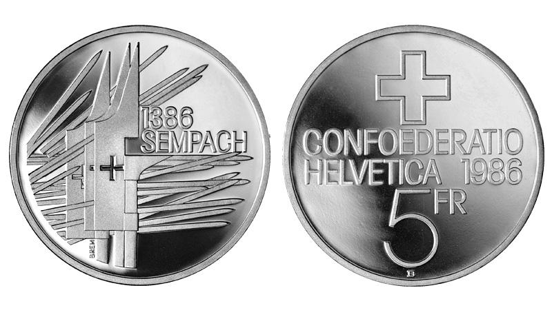 CH 5 Franken 1986 B