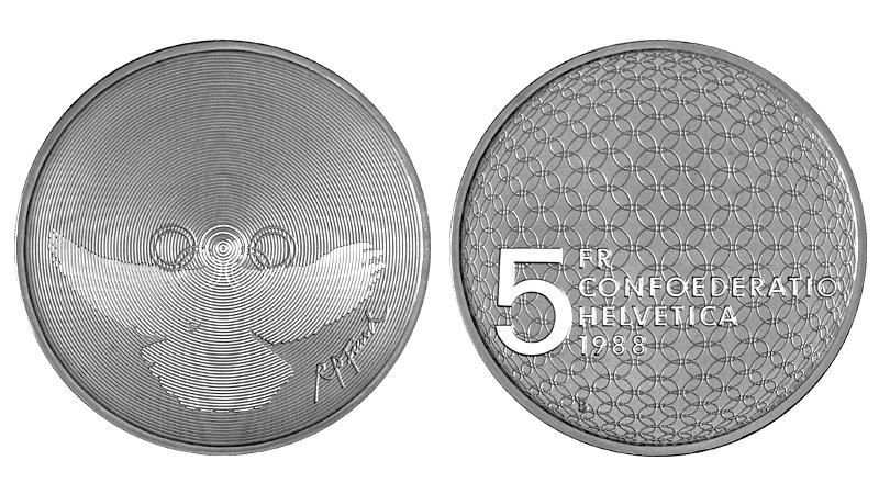 CH 5 Franken 1988 B