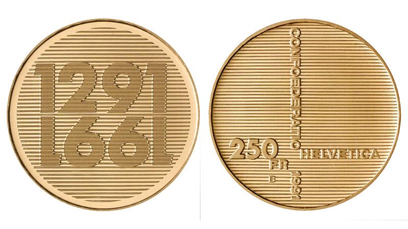 CH 250 Franken 1991 B