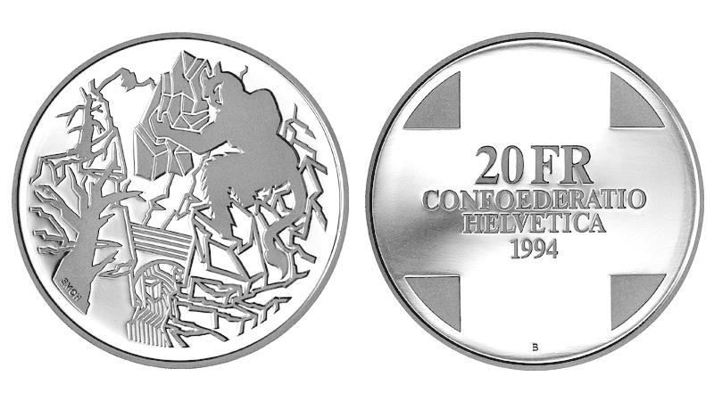 CH 20 Franken 1994 B
