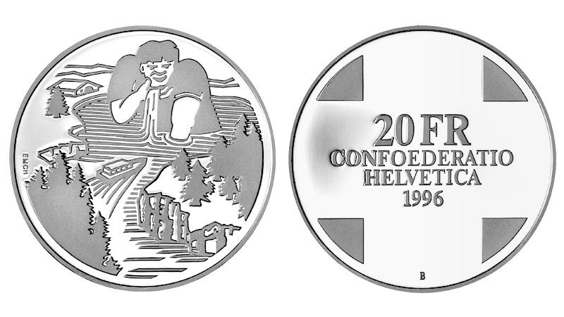 CH 20 Franken 1996 B