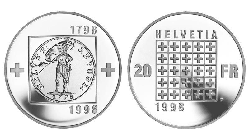CH 20 Franken 1998 B