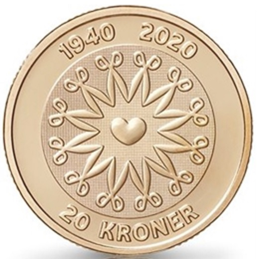 DK 20 Kroner 2020 Heart