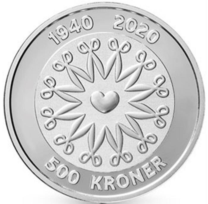 DK 500 Kroner 2020 Heart