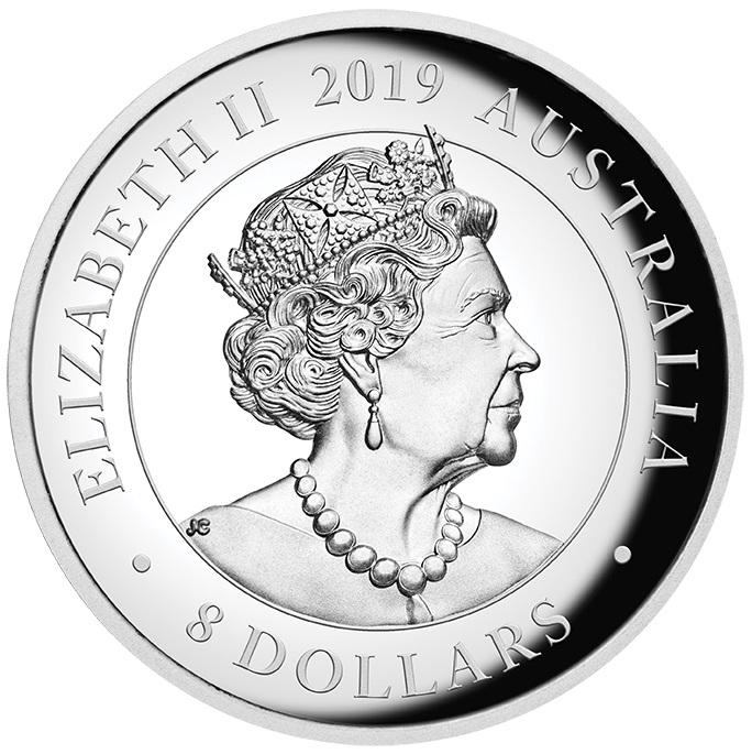 AU 8 Dollars 2020 P