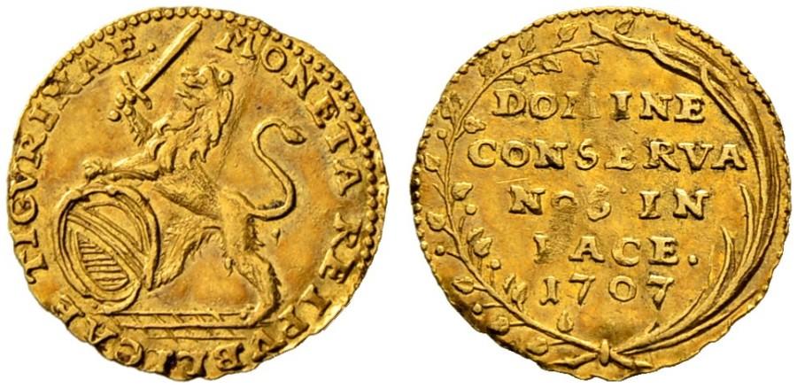 CH 1/4 Dukat - Vierteldukat 1707