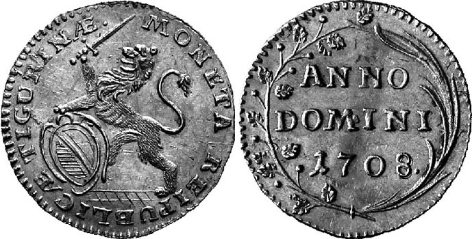 CH 1/4 Dukat - Vierteldukat 1708