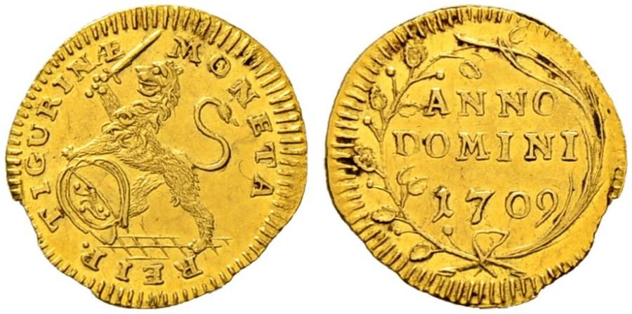 CH 1/4 Dukat - Vierteldukat 1709