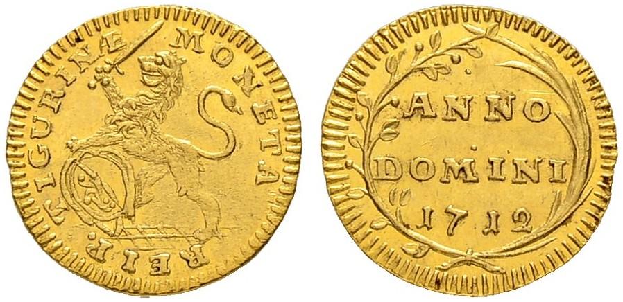 CH 1/4 Dukat - Vierteldukat 1712