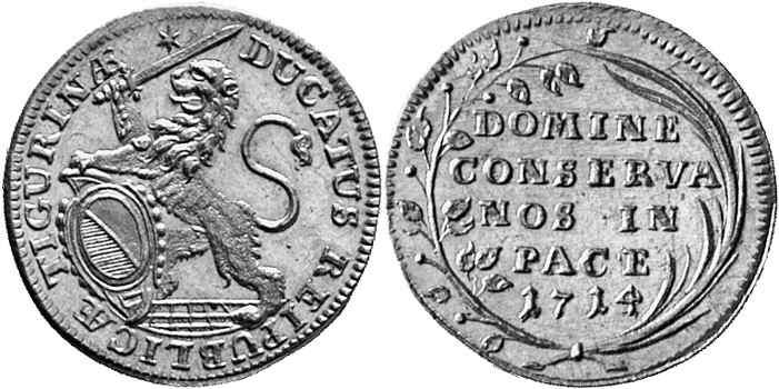 CH 1 Dukat 1714