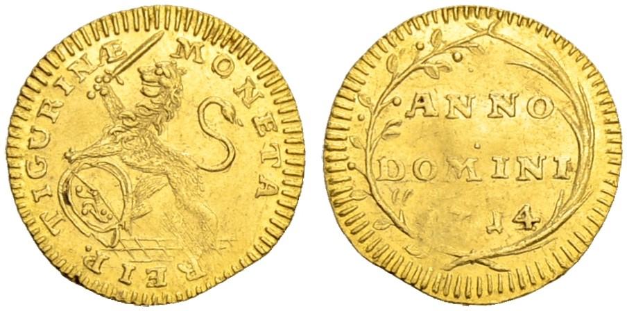 CH 1/4 Dukat - Vierteldukat 1714