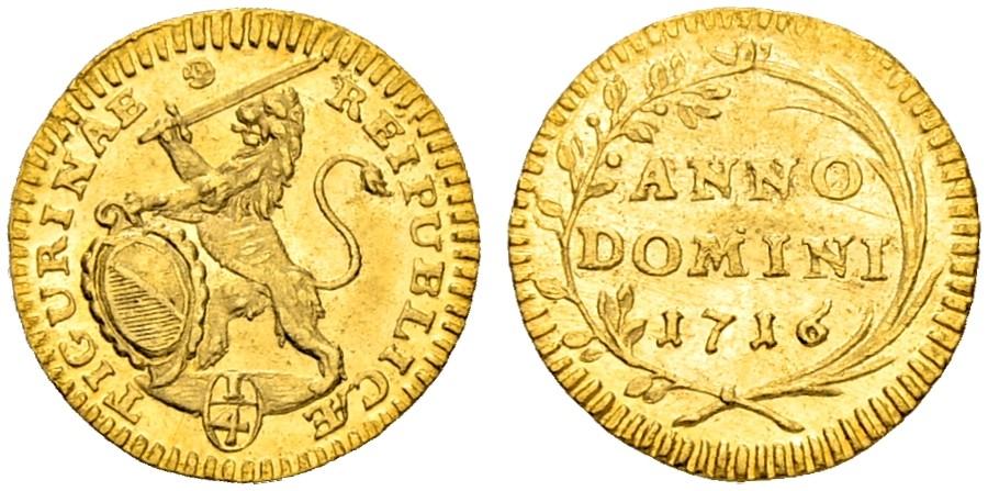 CH 1/4 Dukat - Vierteldukat 1716