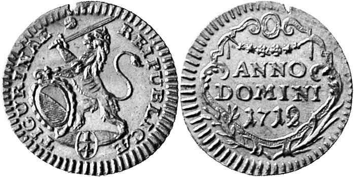CH 1/4 Dukat - Vierteldukat 1719