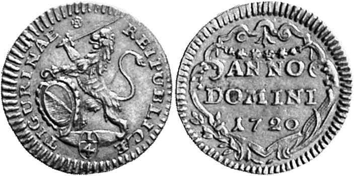 CH 1/4 Dukat - Vierteldukat 1720