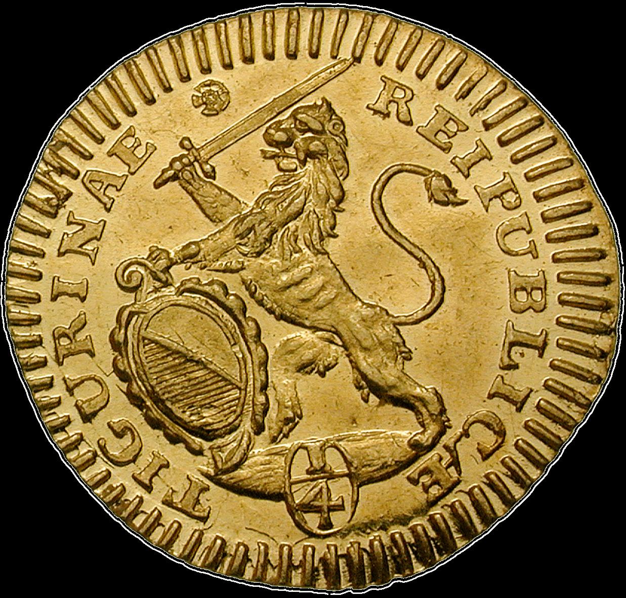CH 1/4 Dukat - Vierteldukat 1721