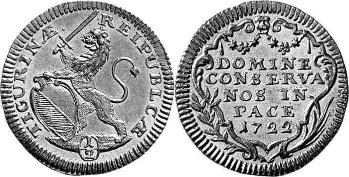 CH 1/2 Dukat - Halbdukat 1722