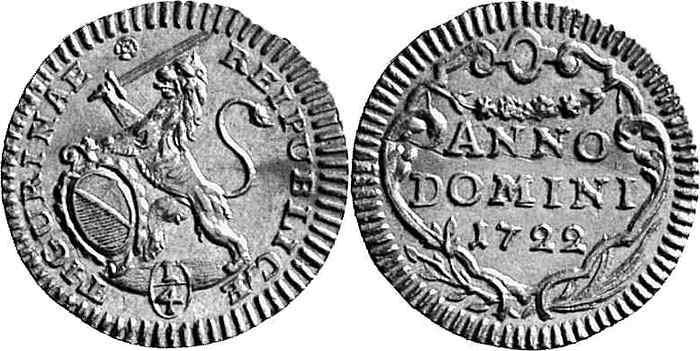 CH 1/4 Dukat - Vierteldukat 1722