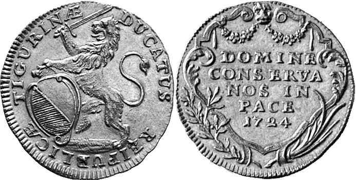 CH 1 Dukat 1724