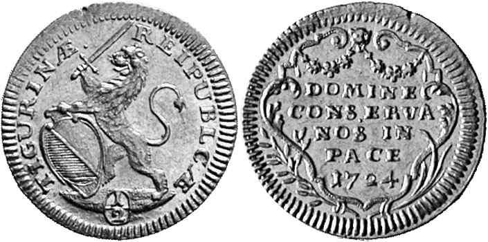 CH 1/2 Dukat - Halbdukat 1724