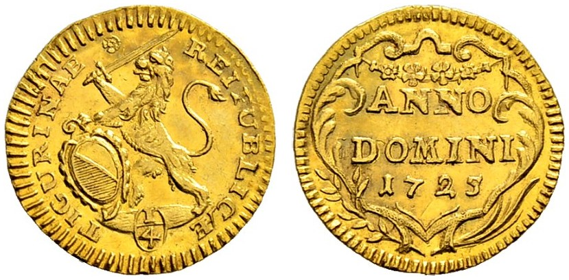 CH 1/4 Dukat - Vierteldukat 1725