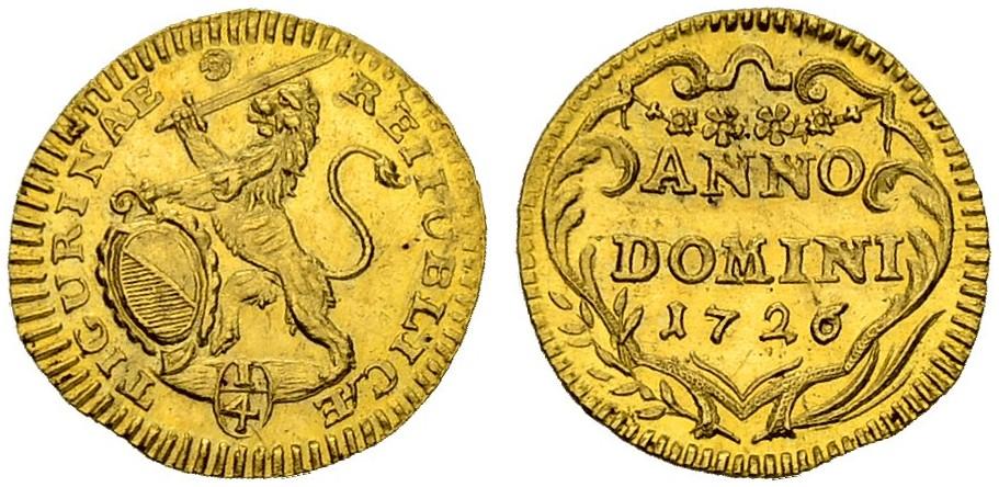 CH 1/4 Dukat - Vierteldukat 1726