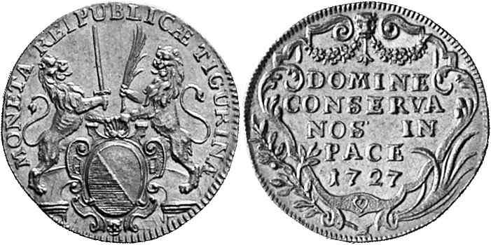 CH 2 Dukaten - Doppeldukat 1727