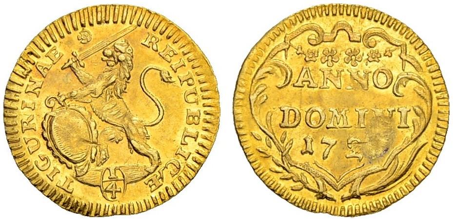 CH 1/4 Dukat - Vierteldukat 1727