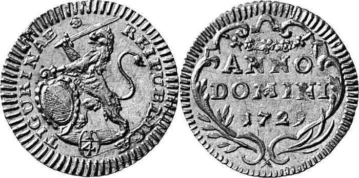 CH 1/4 Dukat - Vierteldukat 1729