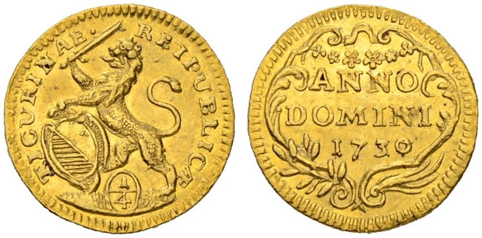 CH 1/4 Dukat - Vierteldukat 1730