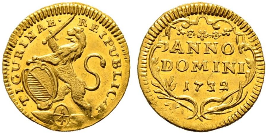 CH 1/4 Dukat - Vierteldukat 1732