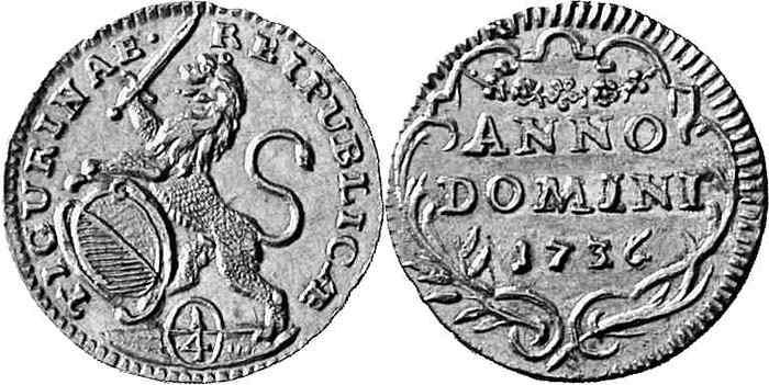 CH 1/4 Dukat - Vierteldukat 1736