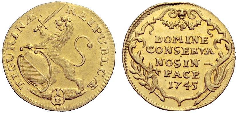 CH 1/2 Dukat - Halbdukat 1745