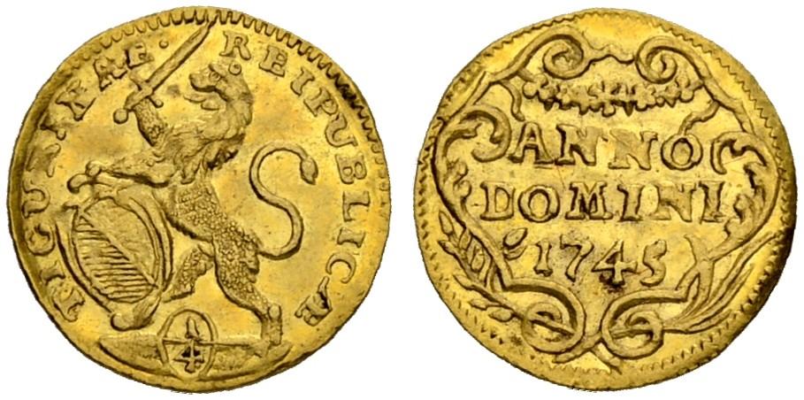 CH 1/4 Dukat - Vierteldukat 1745