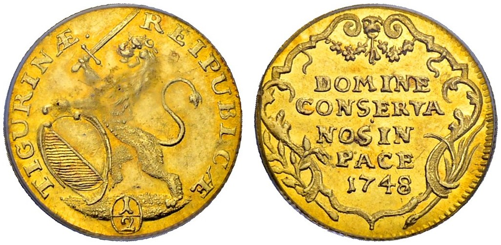 CH 1/2 Dukat - Halbdukat 1748