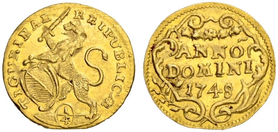 CH 1/4 Dukat - Vierteldukat 1748