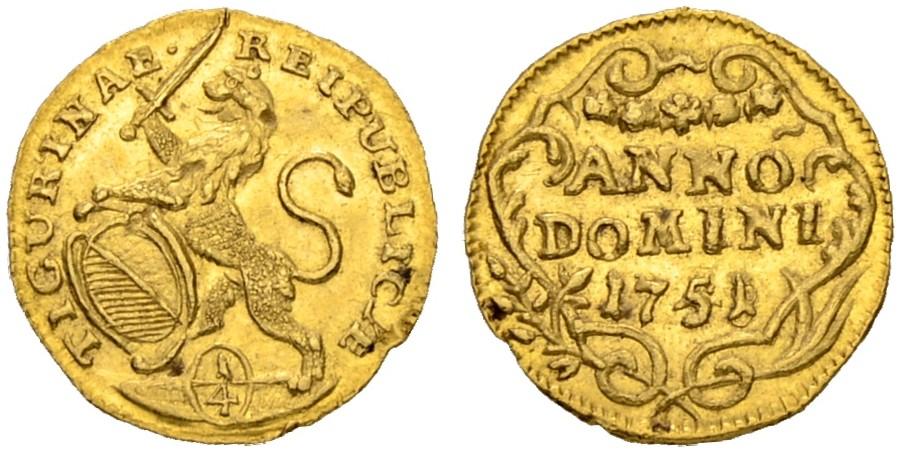 CH 1/4 Dukat - Vierteldukat 1751
