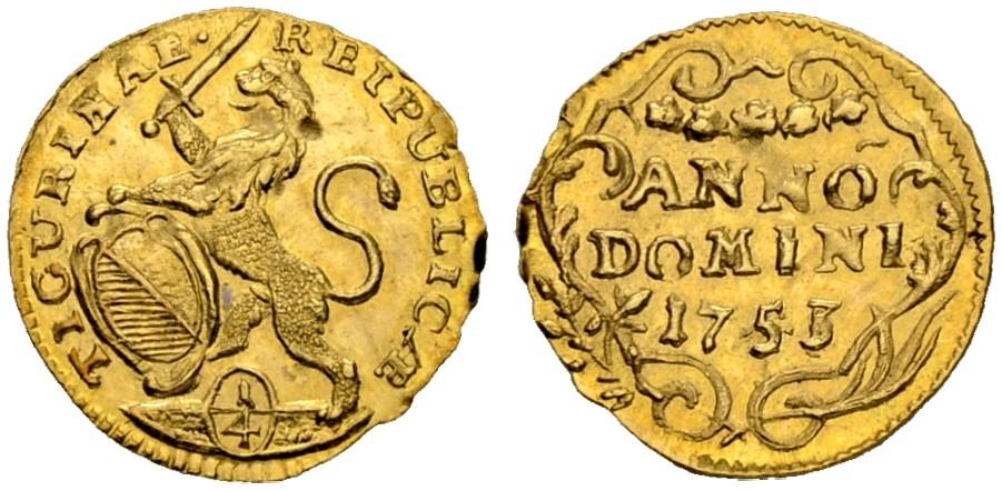 CH 1/4 Dukat - Vierteldukat 1753