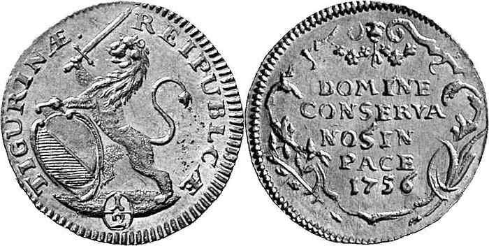 CH 1/2 Dukat - Halbdukat 1756