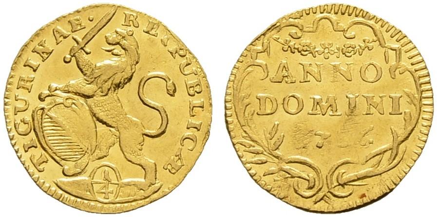 CH 1/4 Dukat - Vierteldukat 1756