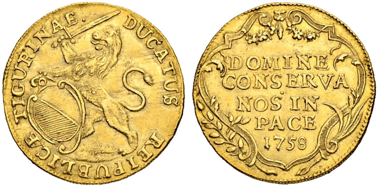 CH 1 Dukat 1758