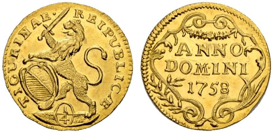 CH 1/4 Dukat - Vierteldukat 1758