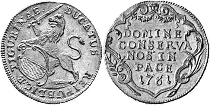 CH 1 Dukat 1761