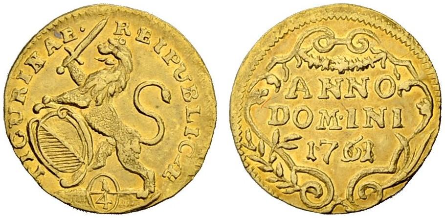 CH 1/4 Dukat - Vierteldukat 1761