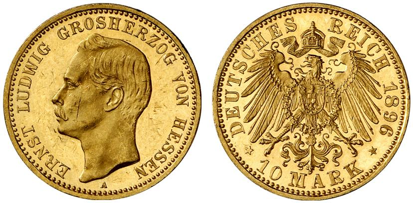 DE 10 Mark 1896 A