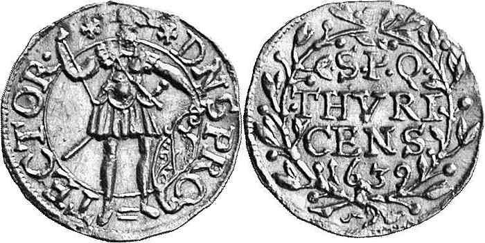 CH 1/4 Dukat - Vierteldukat 1639