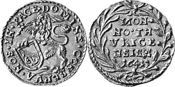 CH 1/4 Dukat - Vierteldukat 1641