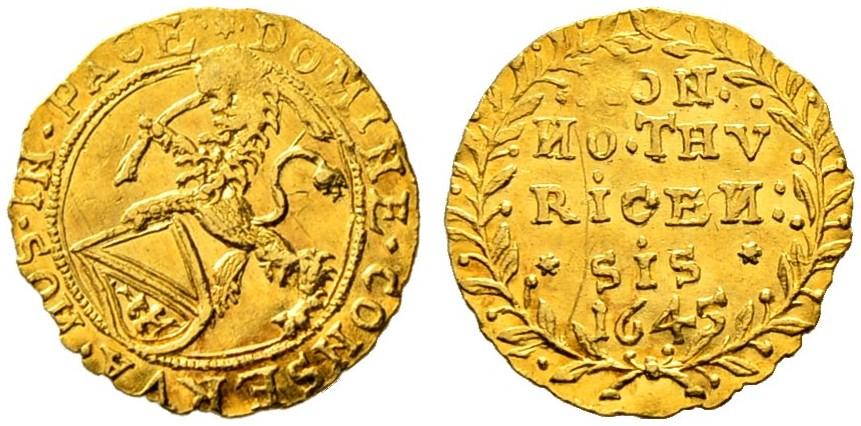 CH 1/4 Dukat - Vierteldukat 1645