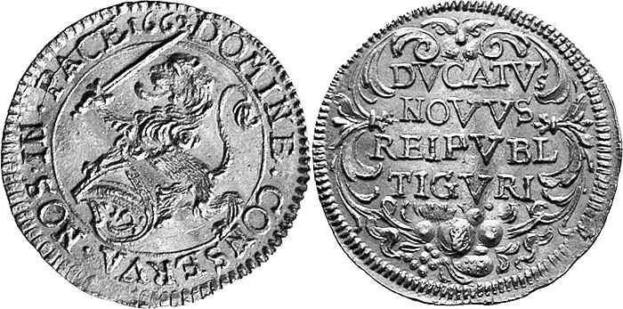 CH 1 Dukat 1662